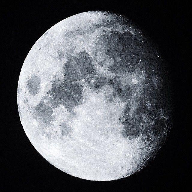 alexmdc:  Got a good picture of the moon tonight from my bathroom skylight window via 90mm telescope.  Follow us on Facebook http://ift.tt/1ZBR6Ym