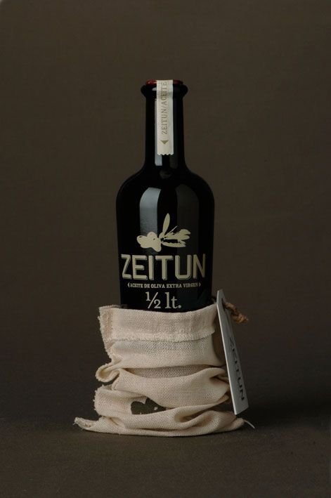 """""""Zeitun is a new Olive oil produced in Chile. Its austere simple and  somewhat retro pack is directed at gourmet food lovers."""""""