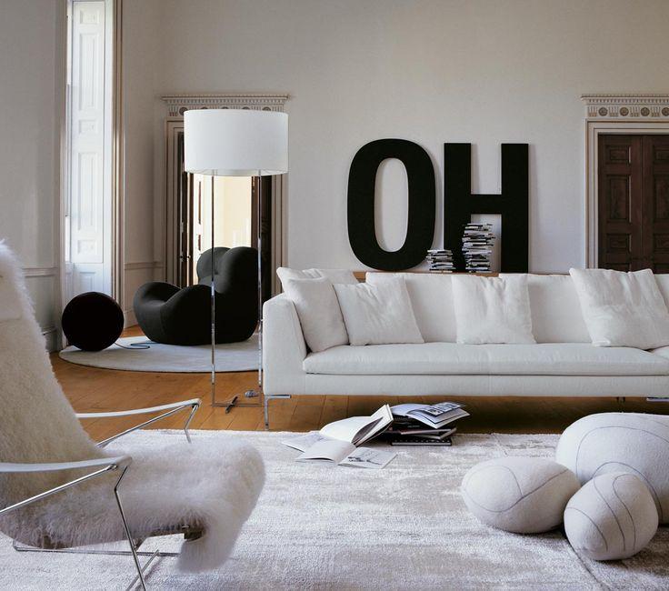 Sofa: CHARLES - Collection: B&B Italia - Design: Antonio Citterio