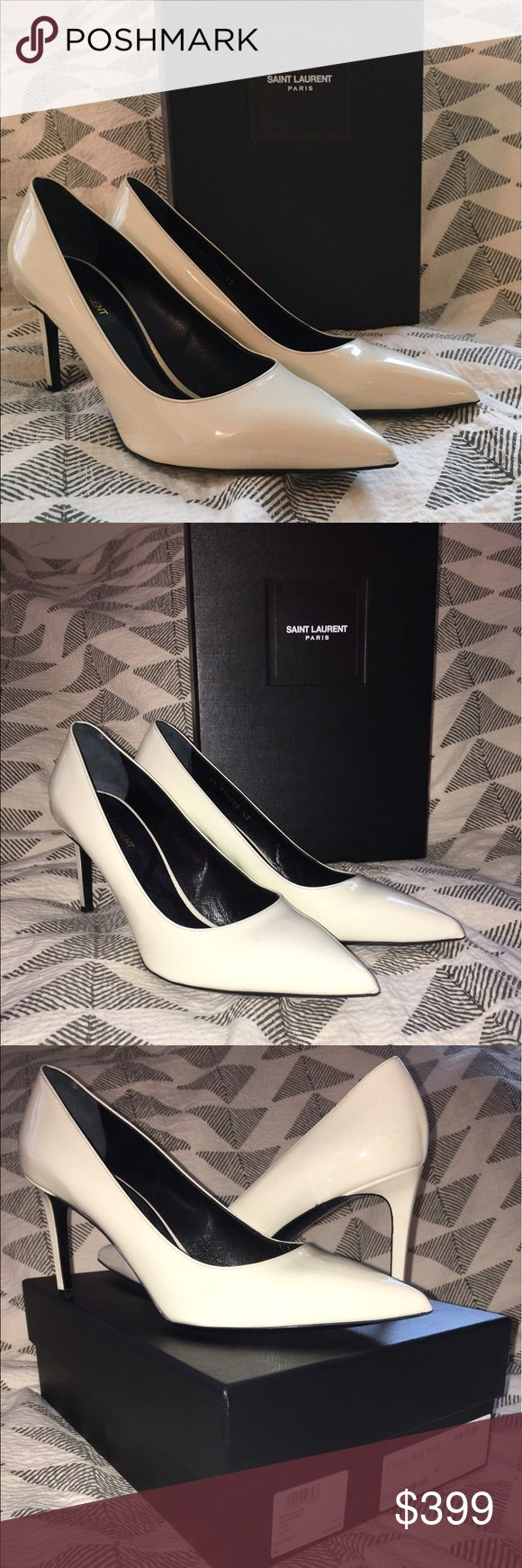 Saint Laurent White Patent Paris 80 Pump Super sexy, not too high uber cool. Think Gwen Stefani, Rihanna. Hate to be cliche but I can't wear these now that I've had a baby! Saint Laurent Shoes Heels