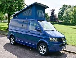 VW T5 Campervan T28 102BHP Startline 2.0TDi SWB in India Blue (Stock 399), (2014) Used Campervans for sale in West Midlands