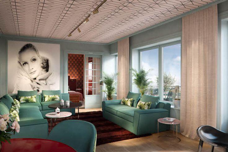 Our Garbo Suite is our 2 room suite on the top floor in Scandic Haymarket, Stockholm.