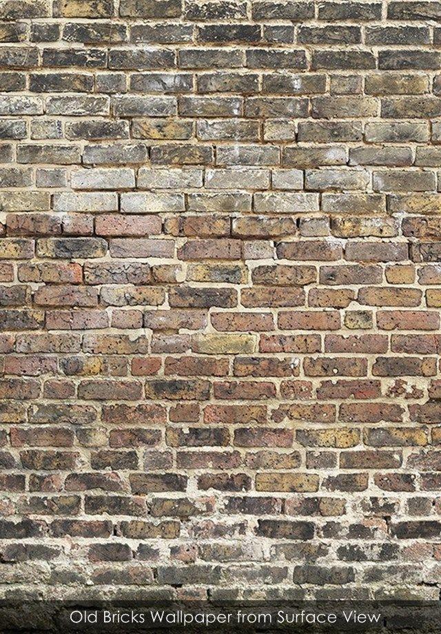Old Bricks Wallpaper From Surface View. Alte ZiegelZiegel Hintergrund