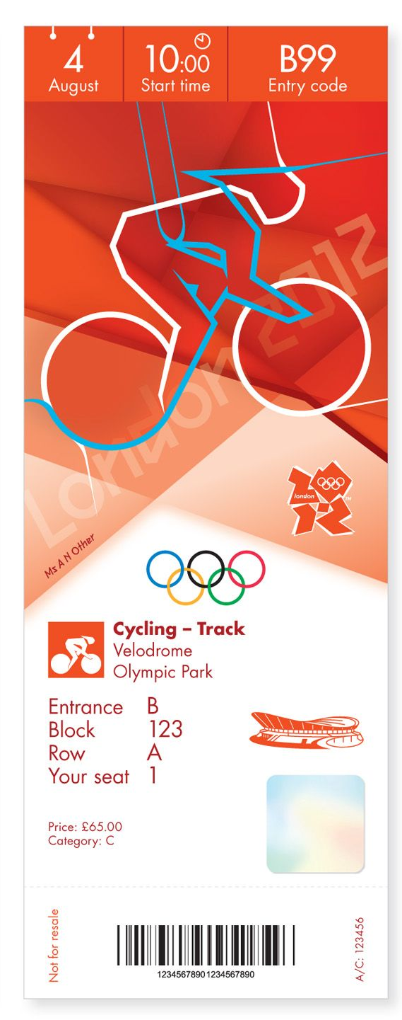 The new tickets for the Olympics look pretty cool in my opinion. The use of color and simple shapes is pretty great.
