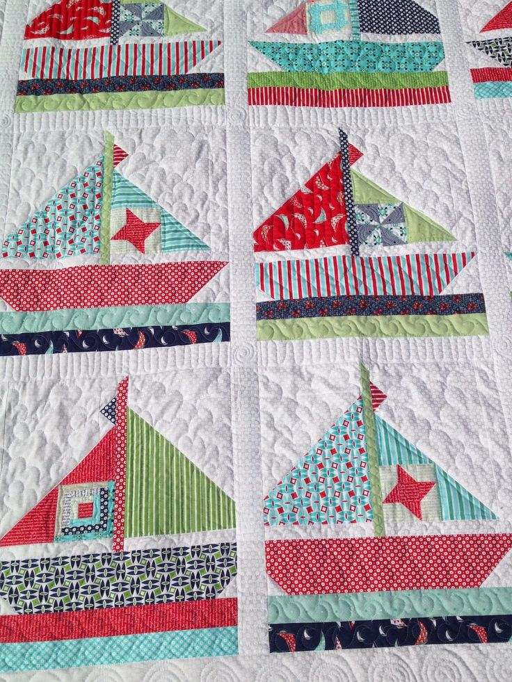 Sailing Away Quilt by Bonnie of Cotton Way; Quilted by Molly Kohler of Lovely Threads
