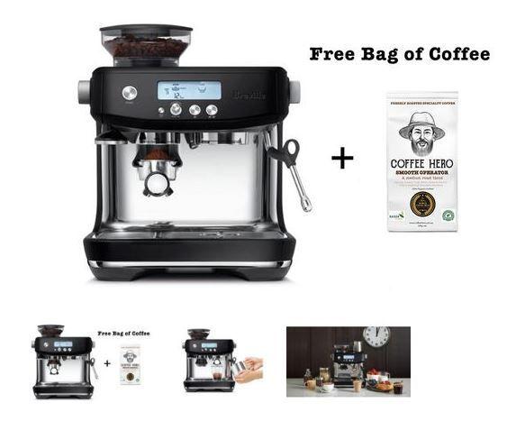 Breville The Barista Pro Espresso Coffee Machine Black Trufflea 899 00 Only Espresso Coffee Machine Home Coffee Machines Coffee Machine