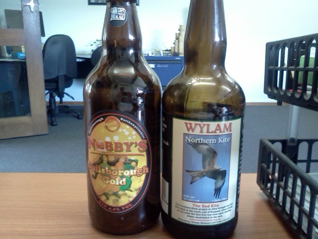 Nobby's Guilsborough Gold and the Wylam Northern Kite. Nobby's was the winner on the day, very nice drop