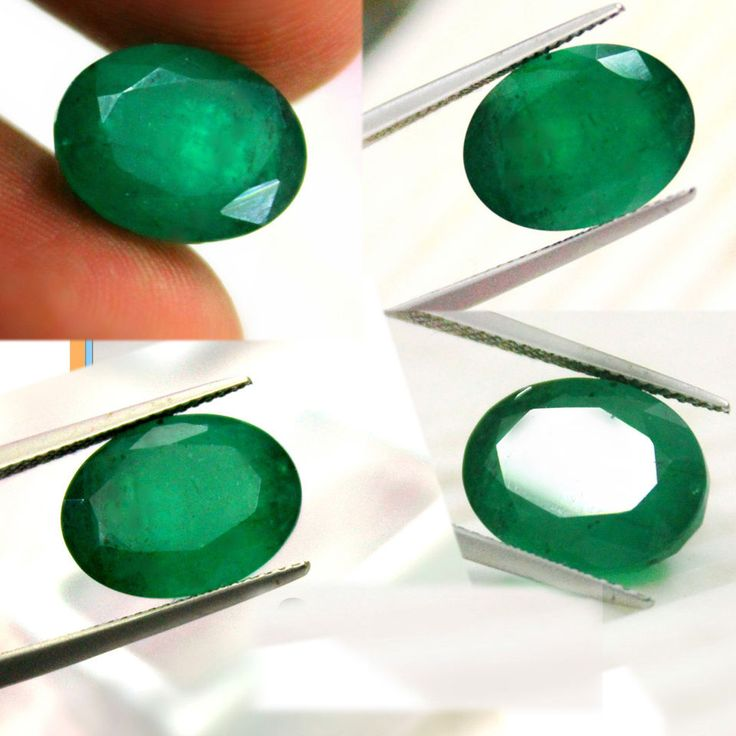 8.86 ct Natural Zambia Green Emerald for 18K Gold Diamond Engagement Ring estate