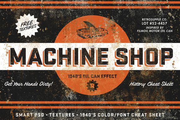 Machine Shop by RetroSupply by RetroSupply Co. on Creative Market