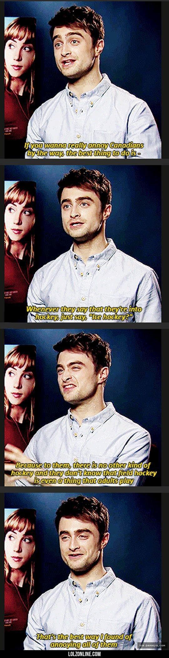 How To Annoy Canadians By Daniel Radcliffe#funny #lol #lolzonline