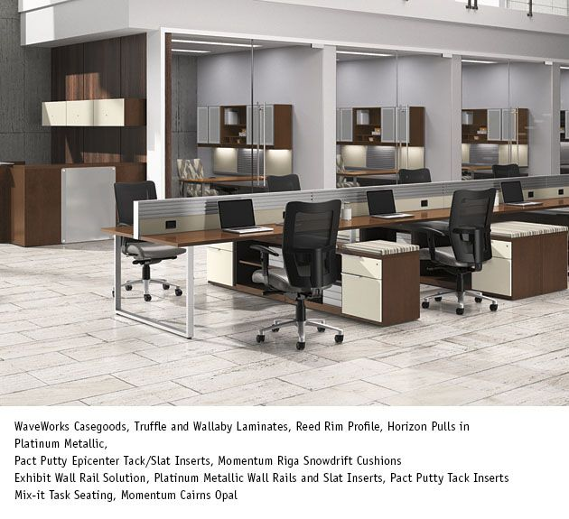 National Office Furniture Mix It Task Work Seating With Waveworks Casegoods In Collaborative Open E Area