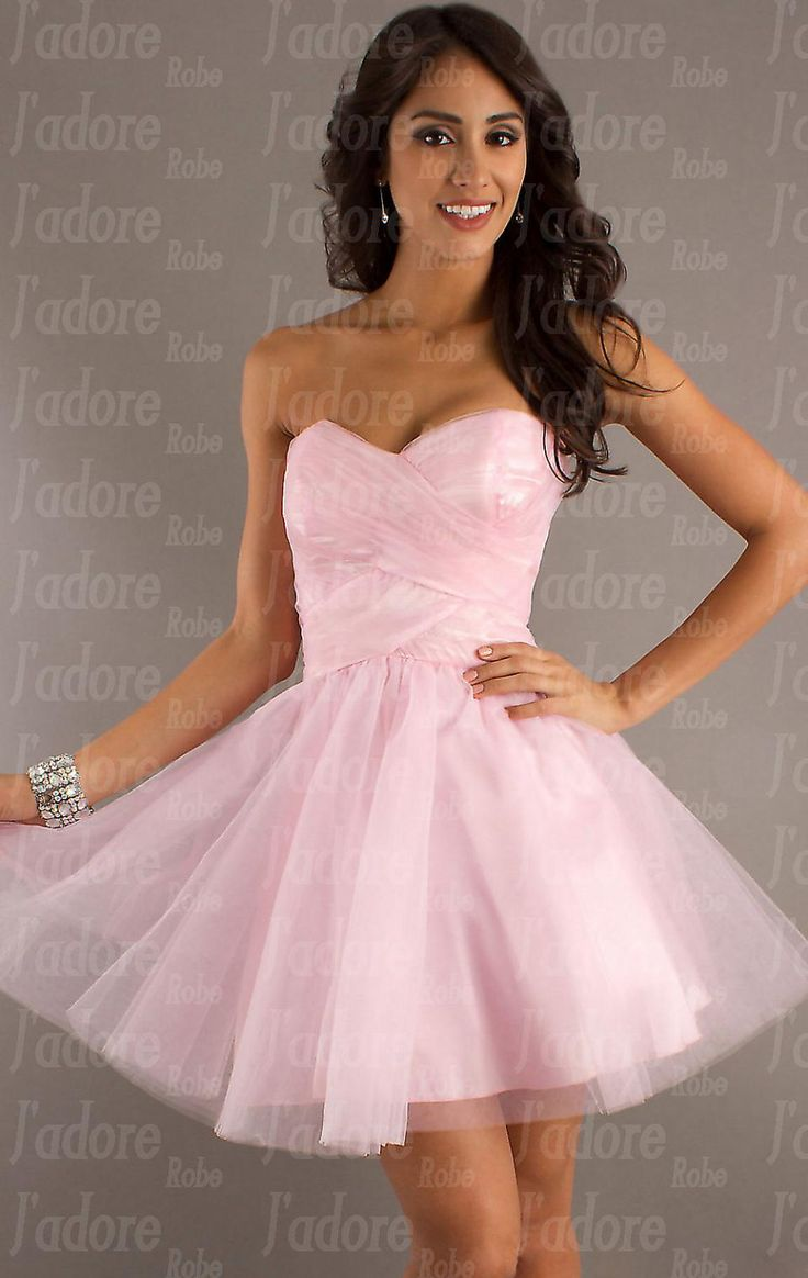 Robe de soiree courte rose fluo
