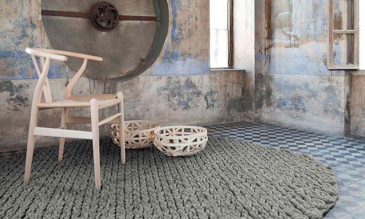 Alfombra moderna / de lana / rectangular / color liso TRENZAS by Gandia Blasco GAN RUGS