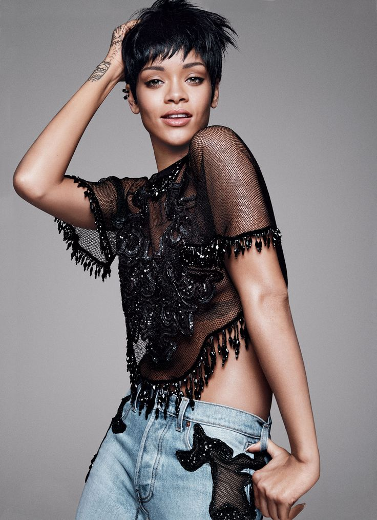 Showing us how to do chic-casual: Rihanna - Photographed by David Sims, Vogue, March 2014