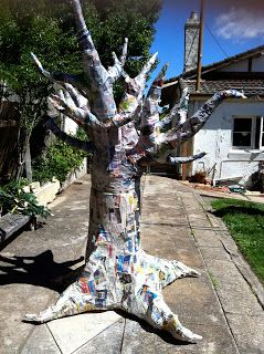 How To Make A Paper Mache Tree - because you just never know when you might be in need of one.