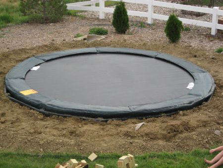 28 best images about trampoline on pinterest planets for How to put a trampoline in the ground