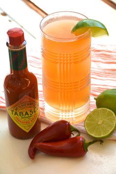 Beer Cocktail with Tabasco Habanero Sauce