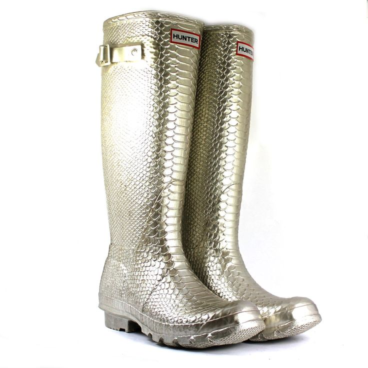 Hunter Carnaby Boa Metallic Ladies Wellington Boot £146 with FREE UK Next working day delivery