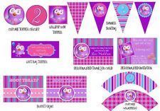 Printable Pink/Purple/Blue Hootabelle Party Themed Package Giggle and Hoot Party