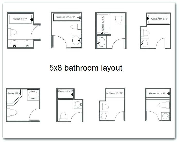 What Best 5×8 Bathroom Layout To Consider in 2020 | Small bathroom ...