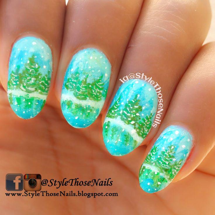 Snowflakes Nailart #winternails