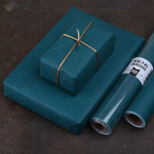 Gavepapir Petroleumblå