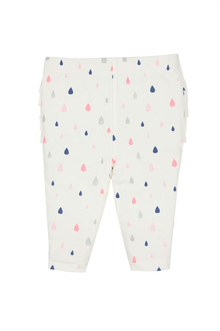 cotton on kids | ruffle legging. raindrops