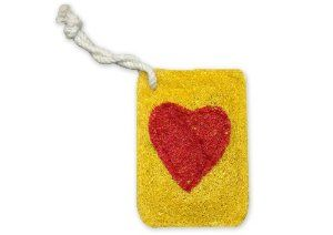 Natural Loofah Multi-Purpose Scrubber - Heart Card by LoofahWorld. $5.00. Non-scratch fibers are safe on all delicate surfaces including non-stick cookware, countertops, all stovetops, tiles, etc.. Use on anything you have to scrub it scratches absolutely nothing!. Tough enough to clean stubborn pots, pans, cast iron and soiled dishware, and, yes, even cleat.. Great cleaning tool for sports equipment, camping cookware, in the galley of your boat and your boat, RV, car, mo...