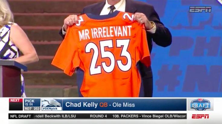 LOOK: Chad Kelly falls asleep during draft, Broncos make him Mr. Irrelevant anyway