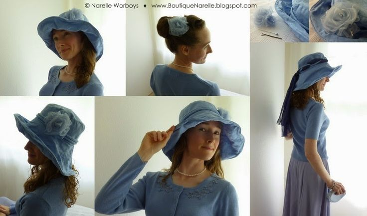 Modest Clothing: try on and buy at NZ event. Exclusive model designer Crushable Picture Hat in Timeless Wedgewood with Nella Flower and organza scarf accessories. Wide brim summer hat great for weddings, picnics, and garden parties. http://boutiquenarelle.blogspot.co.nz/2014/10/modest-clothing-try-on-and-buy-at-nz.html