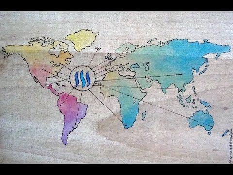 Pyrography art -Steemit World Map - YouTube