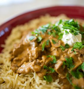 Beef Stroganoff - Julie Goodwin. I love her recipes as they're easy, no-fail and uncomplicated. My daughter made this recipe and it's now a favourite.