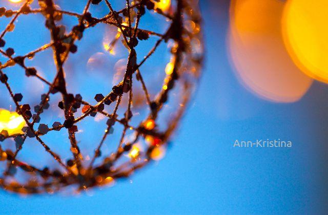 Ann-Kristina Al-Zalimi, christmas lights, christmas, joulu, jouluvalot, blue moment. sininen hetki