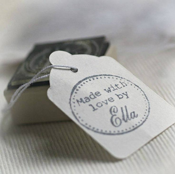 personalised 'made with love by' rubber stamp by pretty rubber stamps   notonthehighstreet.com