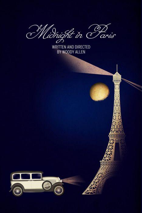 Love this movie.Chay Lazaro, Minimalist Movie Posters, Midnight In Paris Posters, Art Prints, Retro Posters, Midnight In Paris Movie, Woody Allen, Paris Art, Minimal Movie Posters