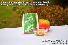 Haare waschen mit Natron und Apfelessig (+Teebaumöl)