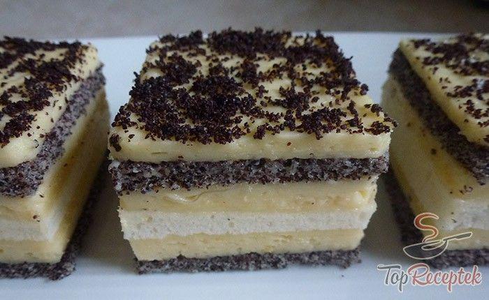 Mind a mákos, mind a csokis süteményeket szeretem, így nem volt kérdéses, hogy egyszer ezt a finomságot is elkészítem. A fehér csokoládés mákos kocka egy igazi remekmű, amiben a két féle tészta (a mákos és a fehér) váltogatja egymást, az egészet pedig a fehér csokoládés rétegek teszik felejthetetlenné. Általában darált mákkal díszítem, de bátran megszórható reszelt csokoládéval is. Mióta készítem, nemcsak az én nagy kedvencem, hanem a család is megszerette és rendszeresen kéri tőlem.