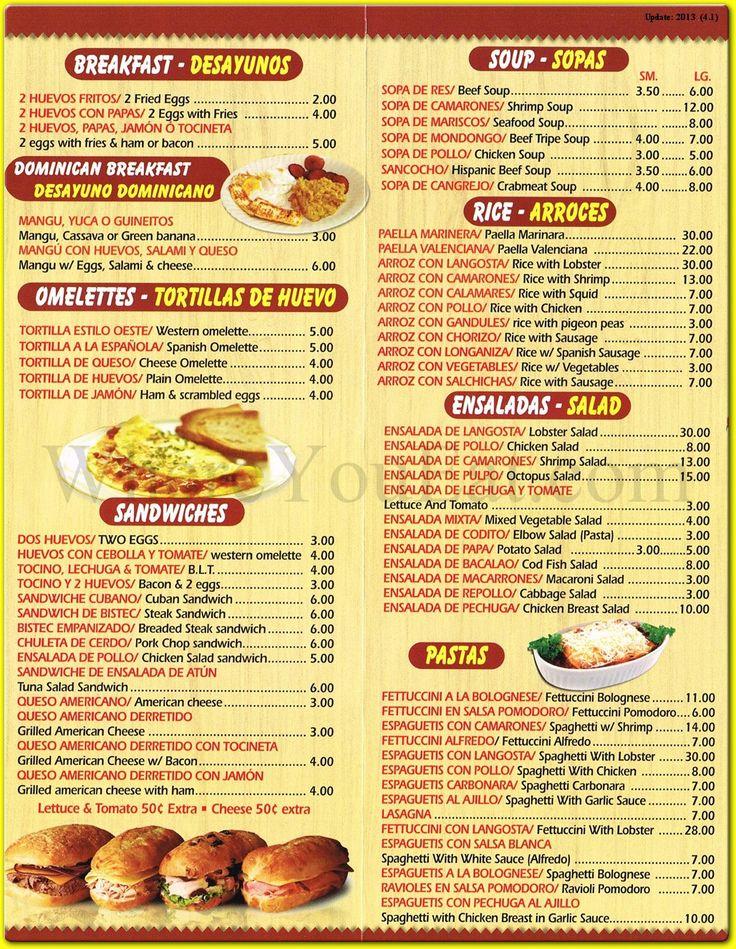 Grammas Restaurant Menu