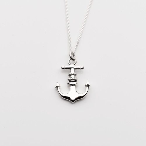 Sterling silver anchor pendant, online jewellery gifts, presents
