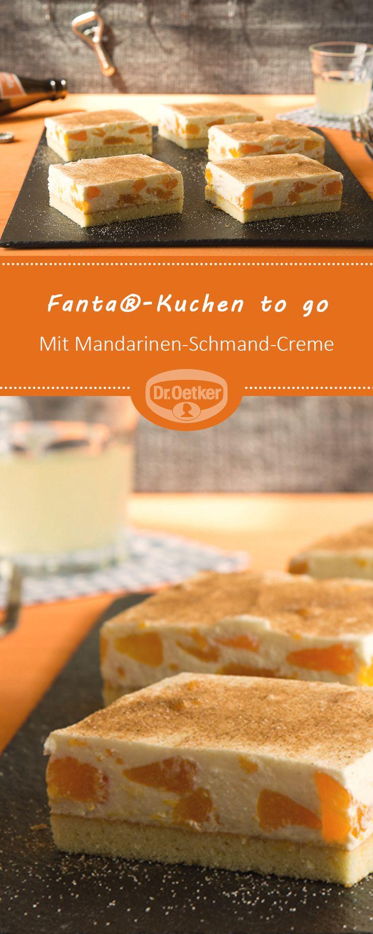 Fanta®-Torte zum Mitnehmen: Klassiker mit Mandarinen-Sauerrahm #selberma …   – Traumhafte Kuchen-Rezepte