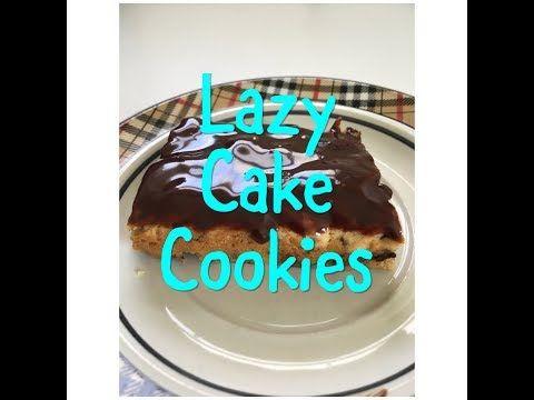 Lazy Cake Cookie Bars- Easy 3 ingredient dessert - YouTube