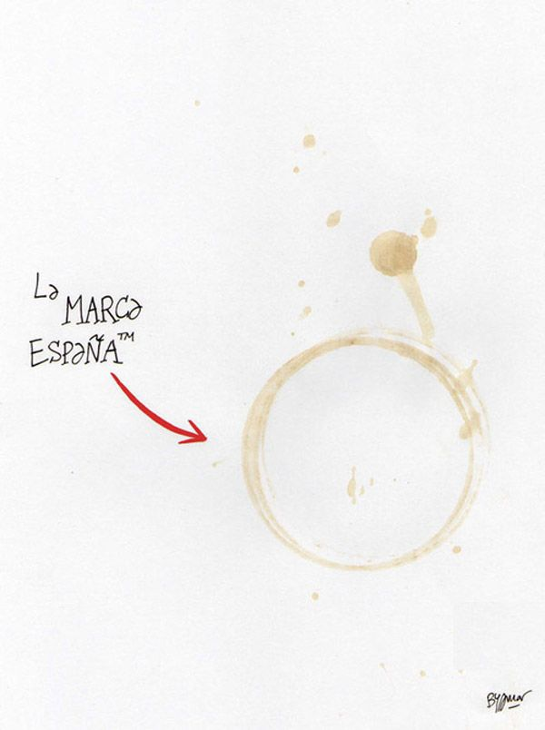 La marca España: Relaxing cup of café con leche.