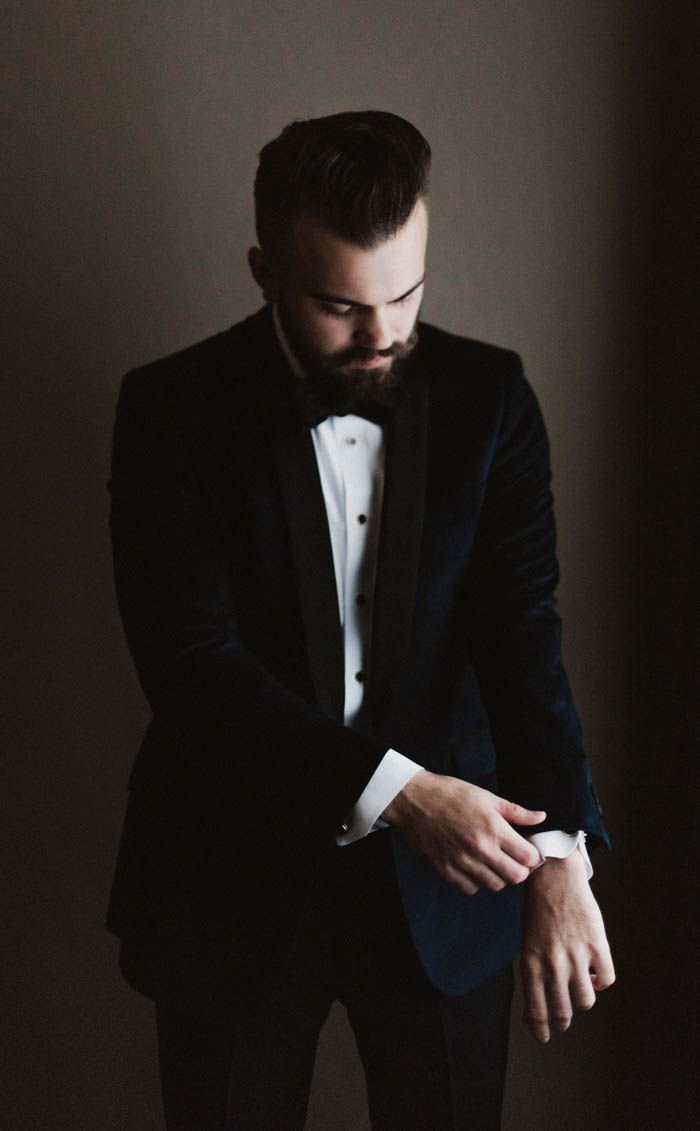 Black suit + bowtie | Image by a sea of love