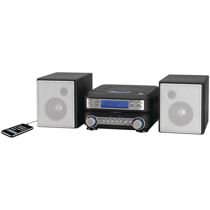 GPX HC221B Compact CD Player Stereo Home Music System with AM/ FM Tuner #GPX