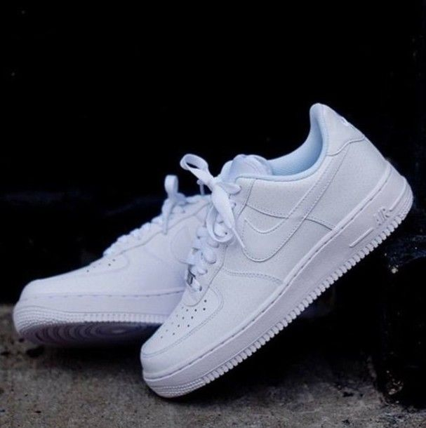 Pin nike air force one low mujer blancas zapatillas de running on - Find Out Where To Get The Shoes White Sneakers Nike Air
