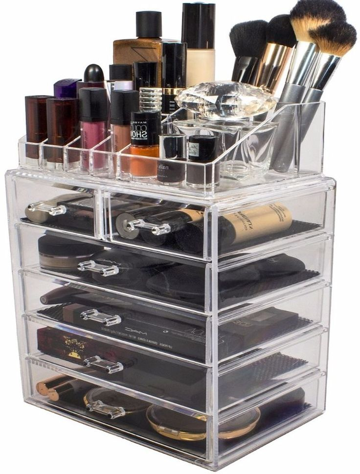 Sorbus Clear Acrylic Makeup Organizer With Sturdy 6 Storage Drawers New | Acrylic  Makeup Organizers