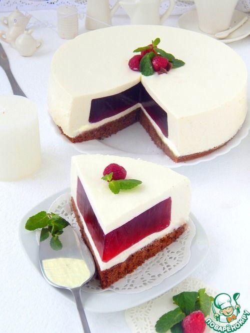 """Сливочный торт-суфле """"Малиновый бриз"""" - кулинарный рецепт"""