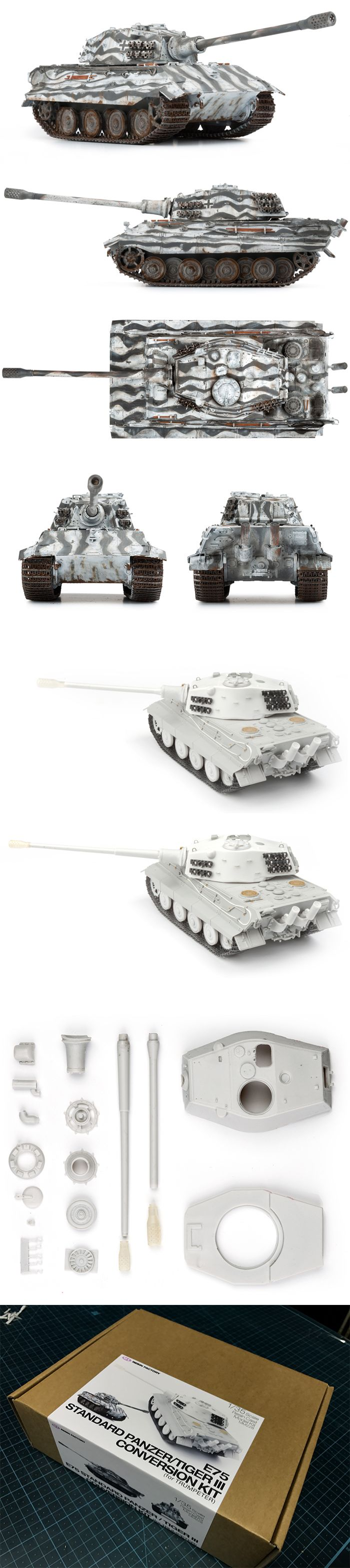 WWII German E75 Standard Panzer/Tiger III 1/35scale Conversion Kit (for Trumpeter)