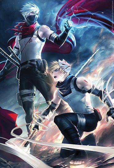 This is a 13*19 inches Poster Printed on Hi-res Gloss Cover Paper. It's durable. Subject :Naruto Kakashi