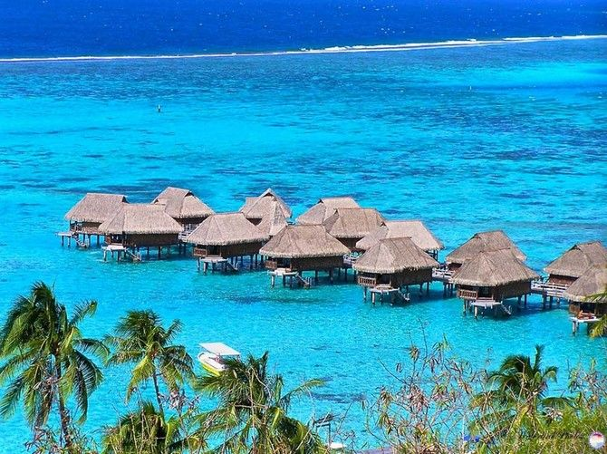 The World's Most Dreamy Beaches in 50 Pictures Pearl Resort Moorea Tahiti